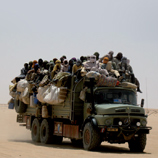 Sub-Saharan migrants leaving Agadez (Niger) in order to reach Libya. Photo: SID and CeSPI