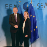UNODC Executive Director, Yury Fedotov, and the High Representative of the European Union on Foreign Affairs and Security Policy, Federica Mogherini. Photo: UNODC