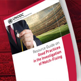 UNODC and the International Centre for Sport Security (ICSS) have today unveiled a new resource guide that will help law enforcement and sports organizations better detect and investigate match-fixing and cases of sports-results manipulation. Photo: UNODC