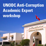 UNODC Anti-Corruption Academic Expert workshop. El Manar University, Tunis. Photo: UNODC