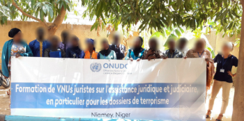 UNV during their first training with UNODC in June 2017, in Niamey, Niger. Photo: UNODC